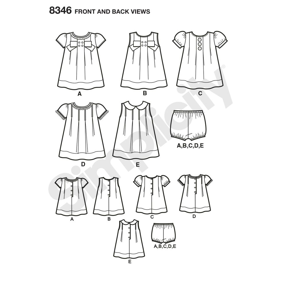 simplicity-baby-dress-pattern-8346-front-back-view