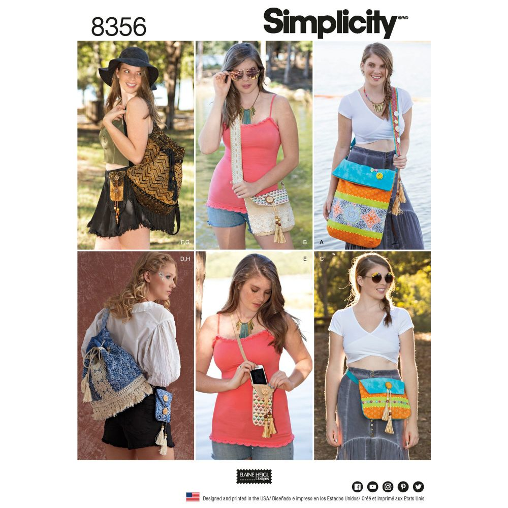 S8356 Simplicity sewing pattern OS (ONE SIZE)