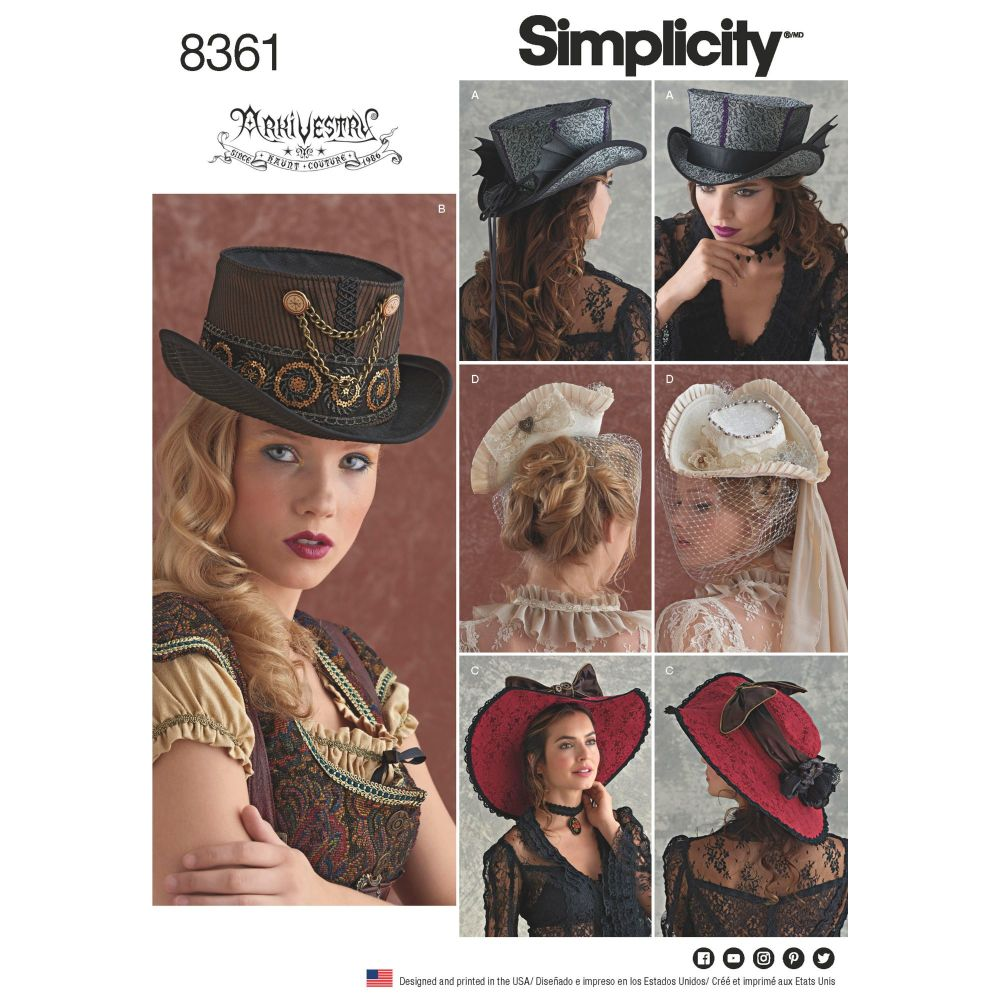 S8361 Simplicity sewing pattern A (S-M-L)