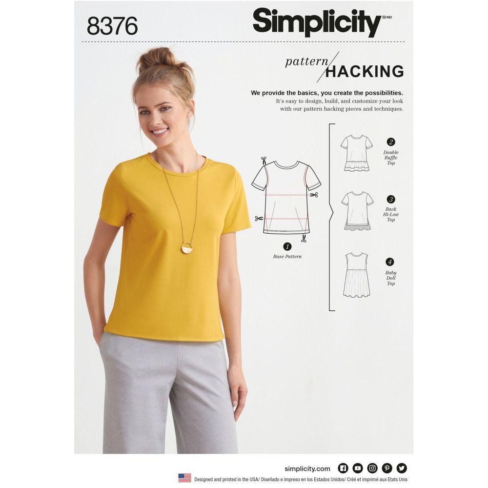 S8376 Simplicity sewing pattern A (XXS-XS-S-M-L-XL-XXL)