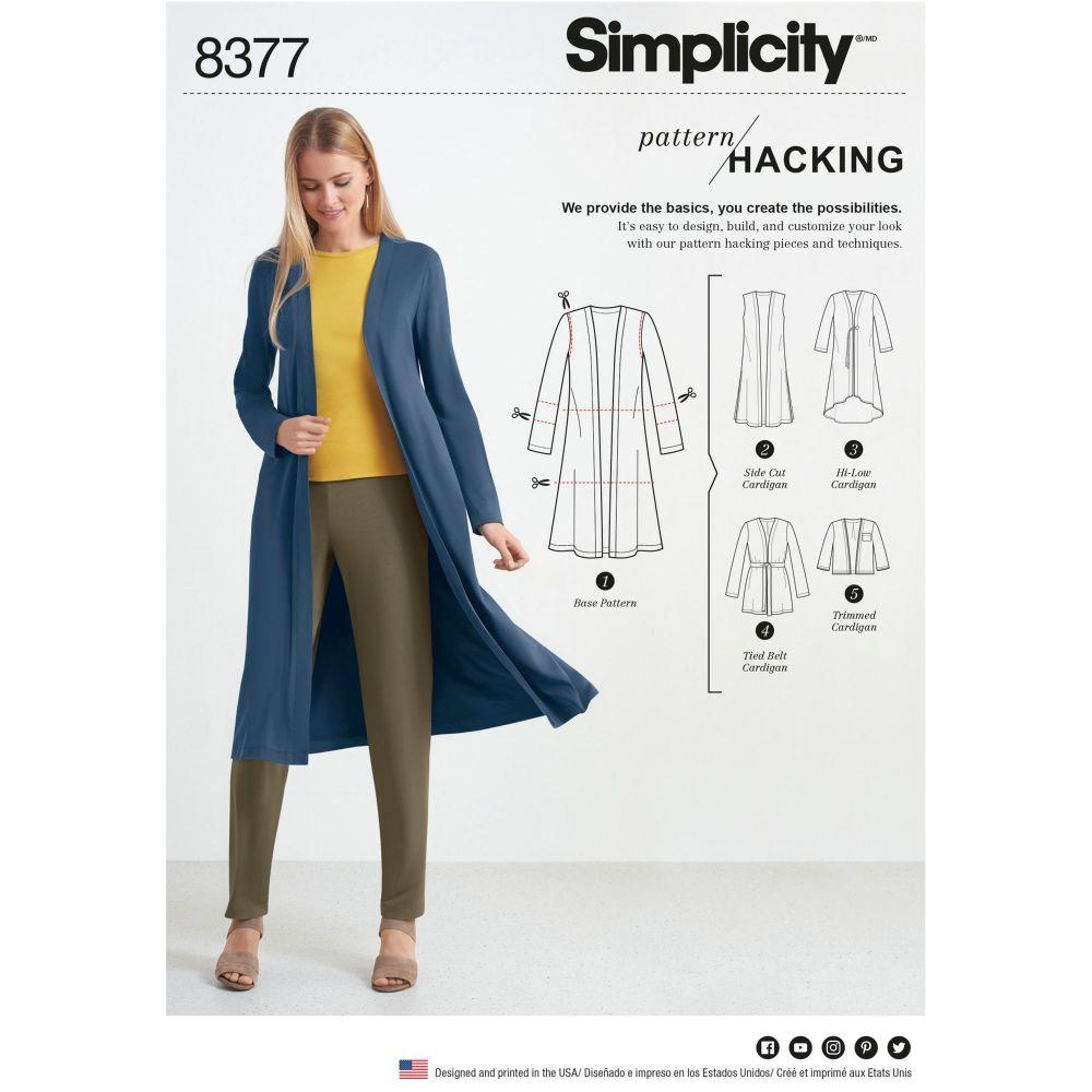 S8377 Simplicity sewing pattern A (XXS-XS-S-M-L-XL-XXL)