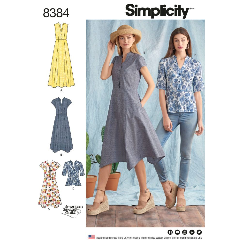 S8384 Simplicity sewing pattern H5 (6-8-10-12-14)