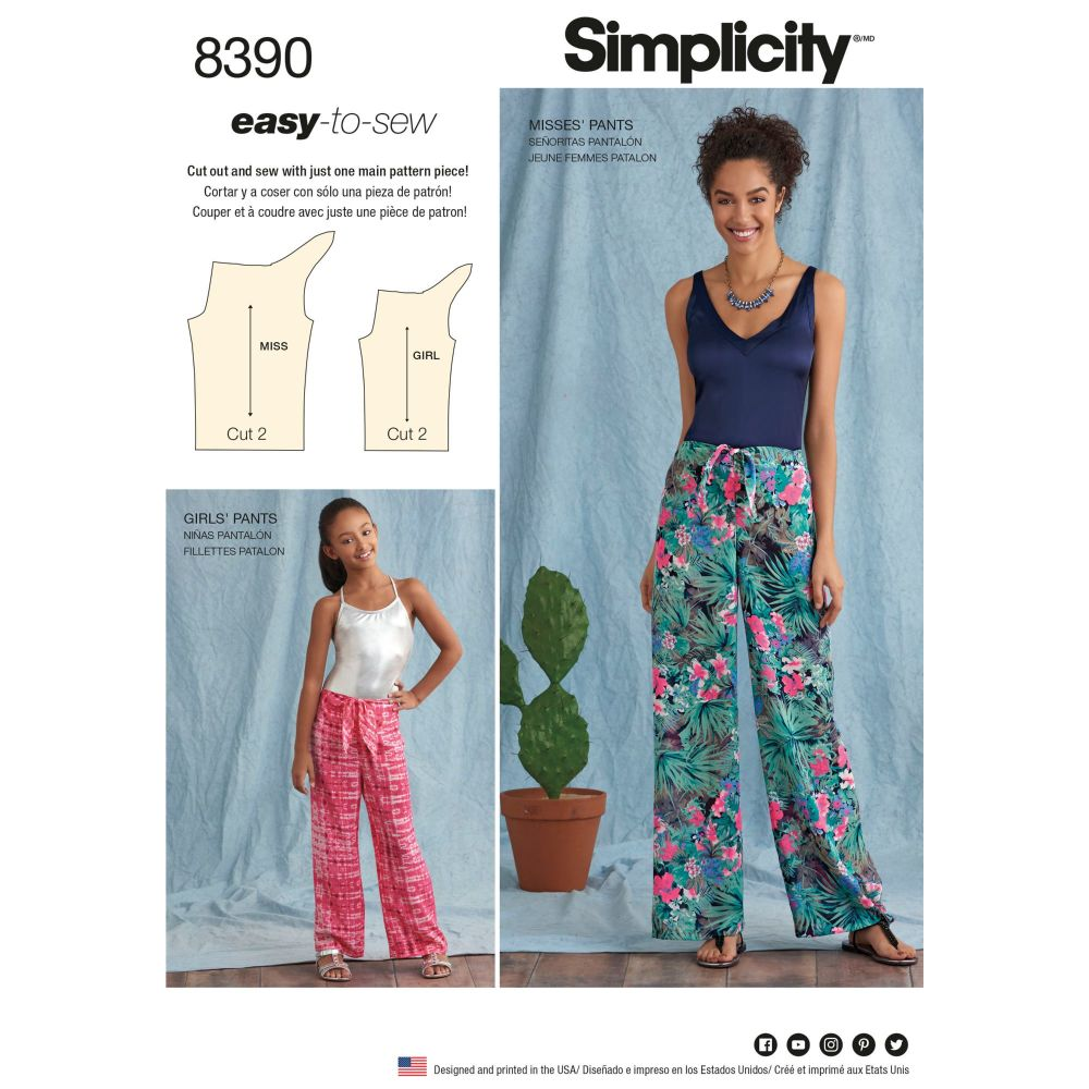 S8390 Simplicity sewing pattern A (S - L / XS - XL)