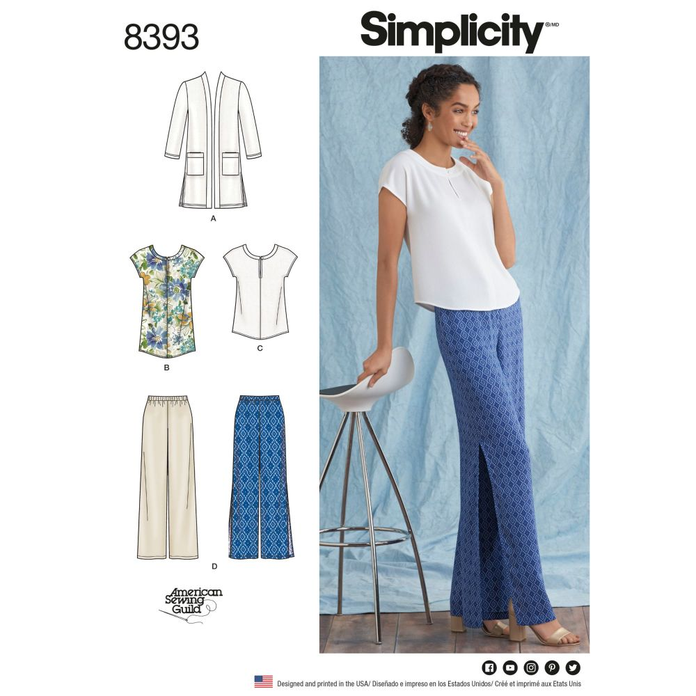 S8393 Simplicity sewing pattern BB (20W-28W)