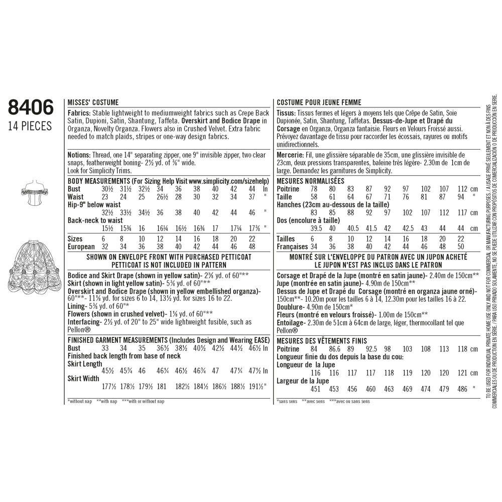 simplicity-costume-pattern-8406-envelope-back
