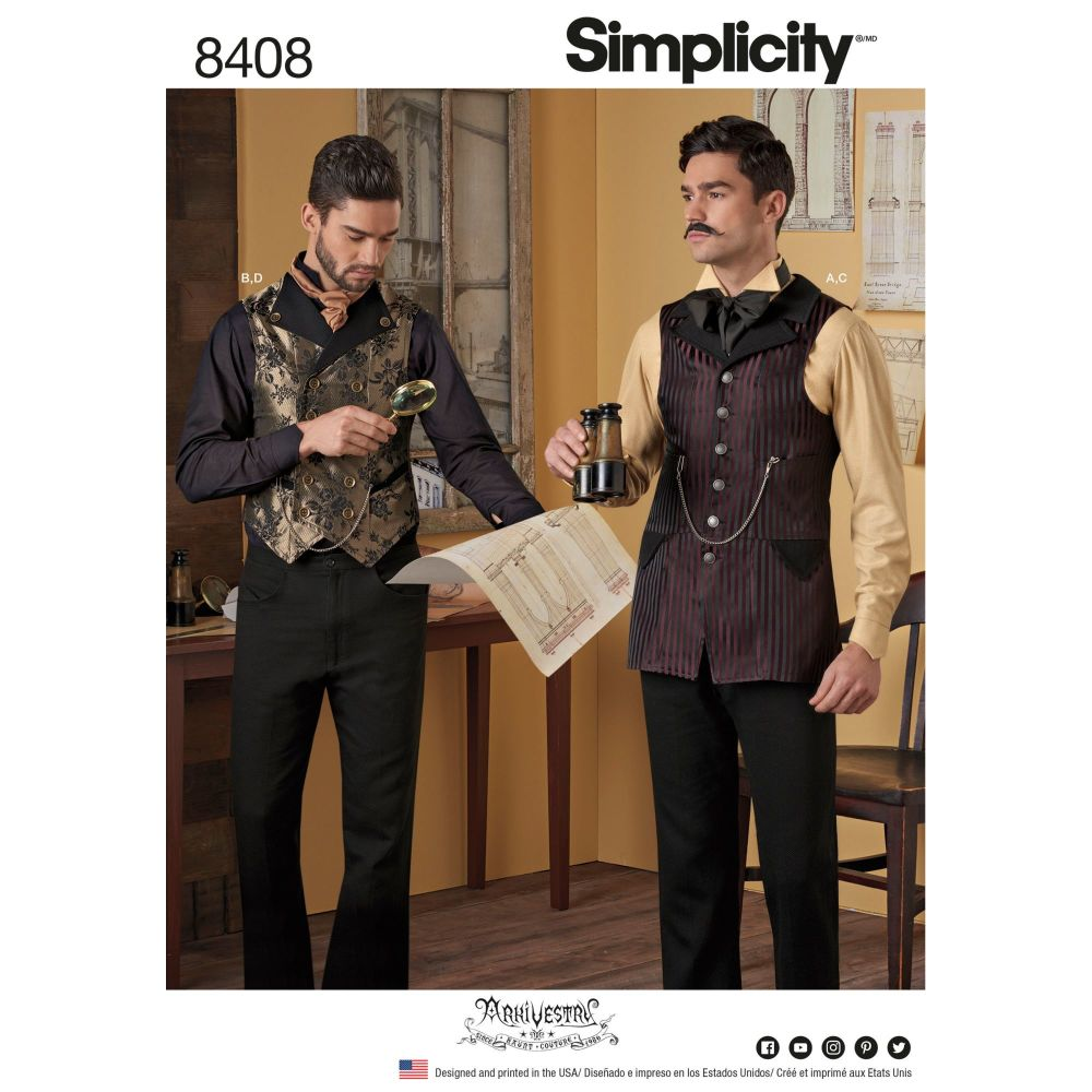 S8408 Simplicity sewing pattern AA (38-40-42-44)
