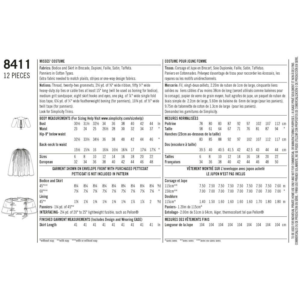 simplicity-outlander-costume-pattern-8411-envelope-back