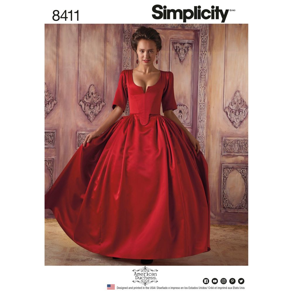 S8411 Simplicity sewing pattern H5 (6-8-10-12-14)