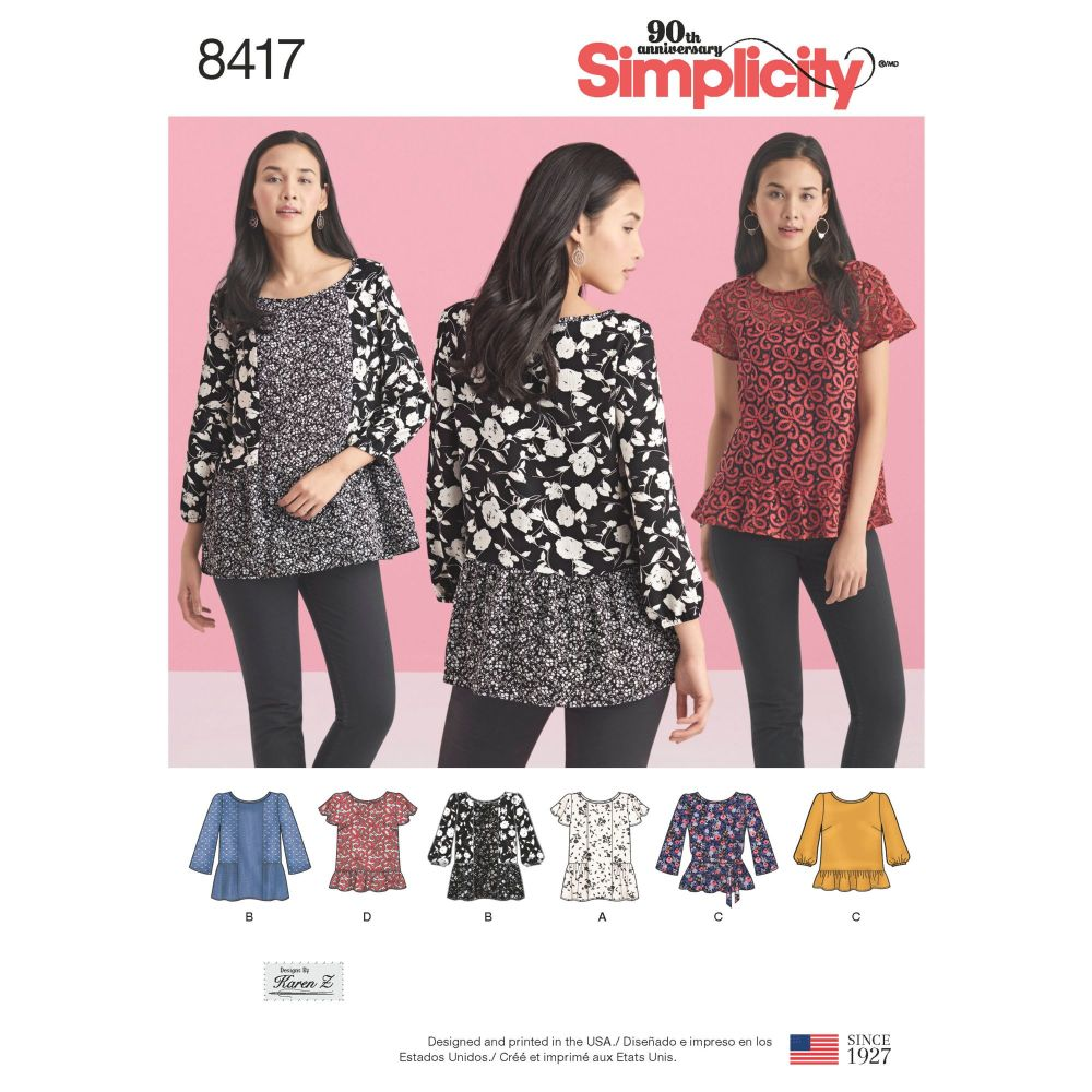 S8417 Simplicity sewing pattern H5 (6-8-10-12-14)
