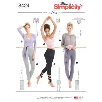 S8424 Simplicity sewing pattern A (XXS-XS-S-M-L-XL-XXL)