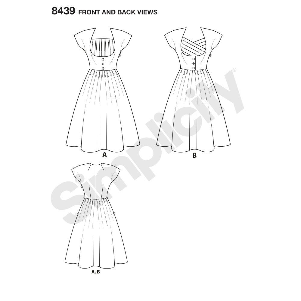simplicity-retro-dress-miss-plus-pattern-8439-front-back-vie