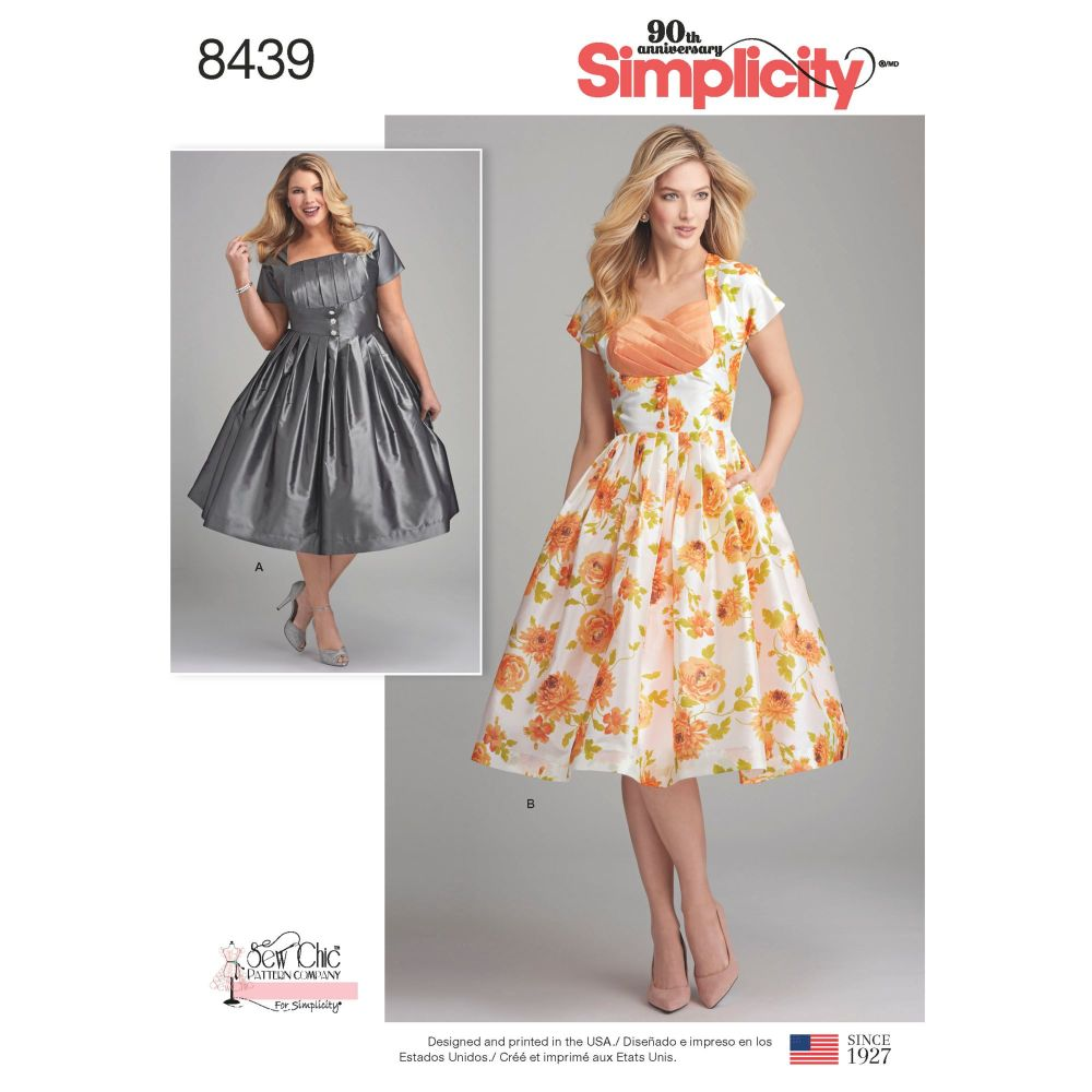 S8439 Simplicity sewing pattern AA (10-12-14-16-18)