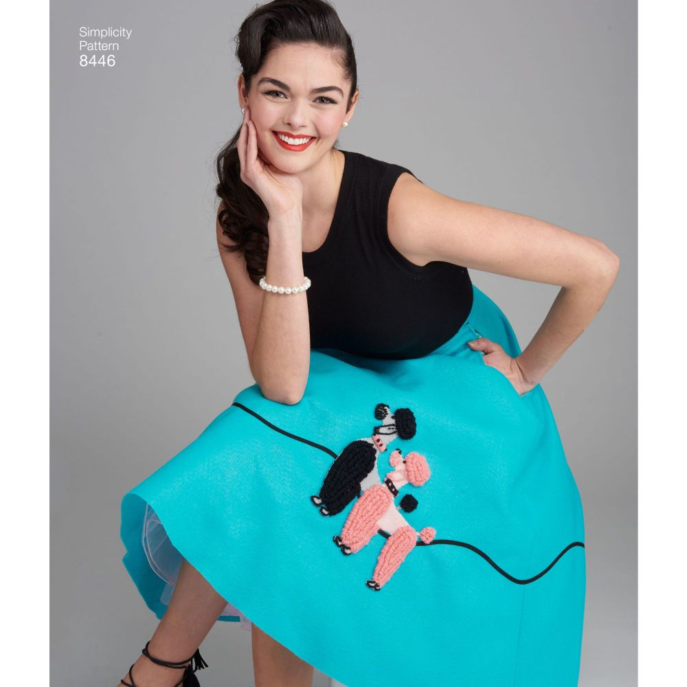 simplicity-vintage-1950s-poodle-skirt-miss-pattern-8446-AV1