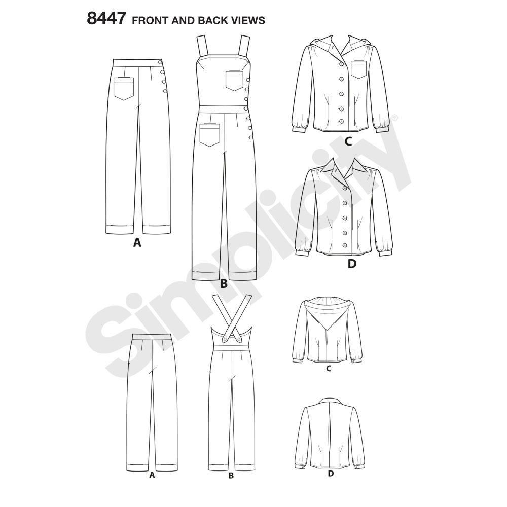 simplicity-vintage-1940s-overalls-pattern-8447-front-back-vi