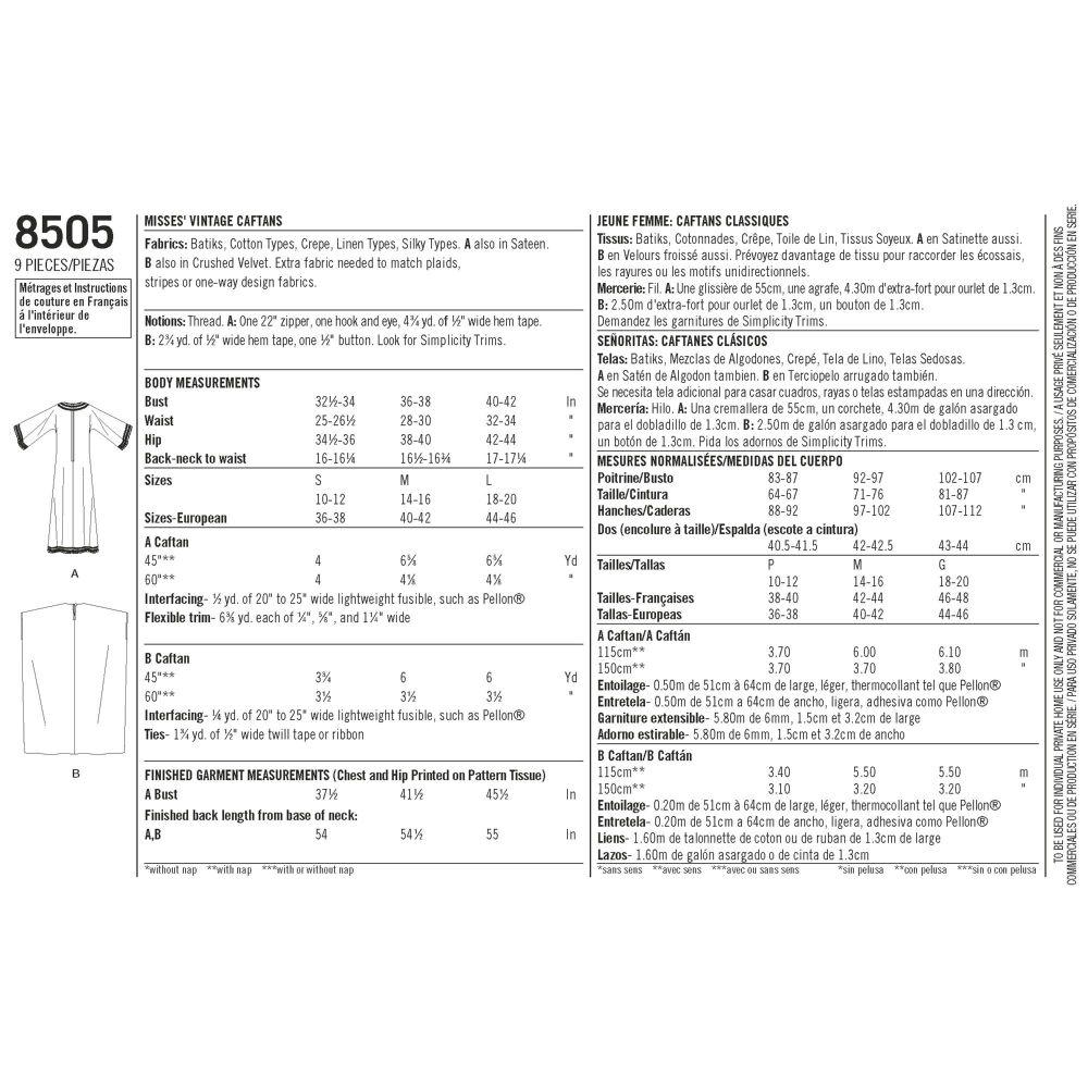 simplicity-vintage-caftan-pattern-8505-envelope-back
