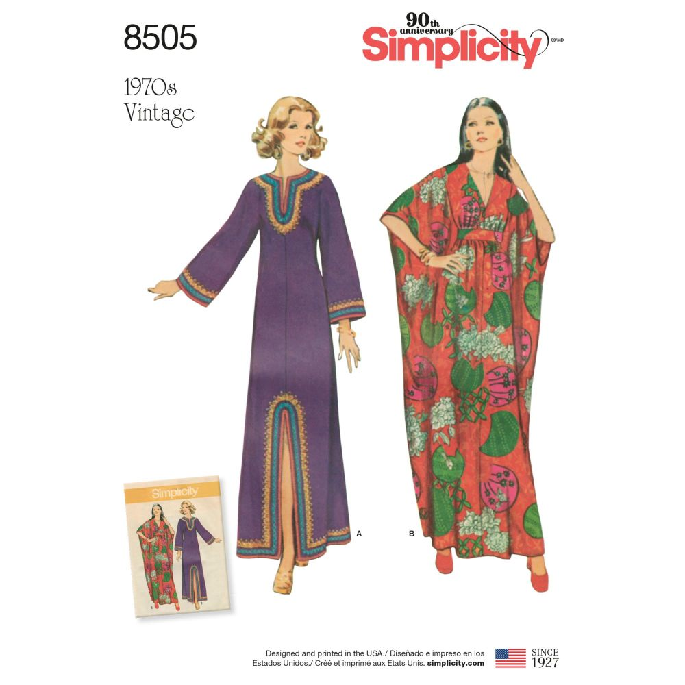 S8505 Simplicity sewing pattern A (S-M-L)