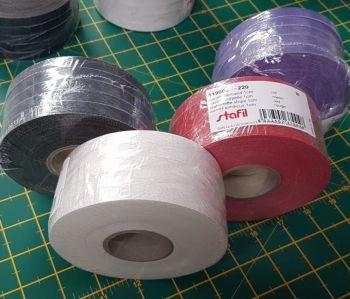Starfil leatherette strip 5 X 1cm x 10mtr  rolls = 50mtr RED