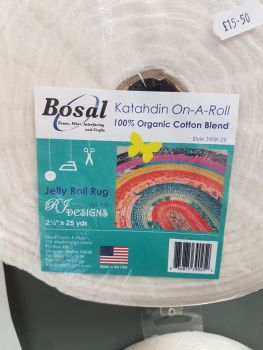 "Bosal  Katahdin wadding On-A-Roll on a roll 2 1/2"" x 25 yards"