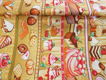 cotton fabric cakes reference 4006/0011