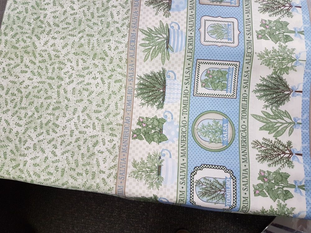 cotton fabric herbs reference 4006/0018