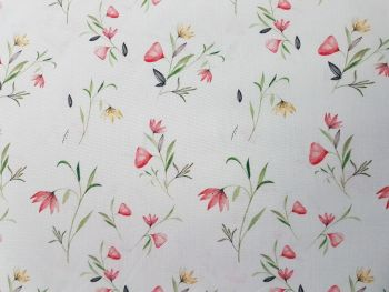 cotton poplin print flower mint reference KC0308-122