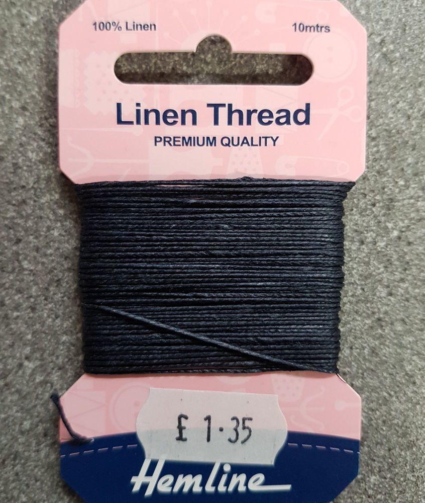 100% Linen thread 10mtr  Hemline premium quality navy