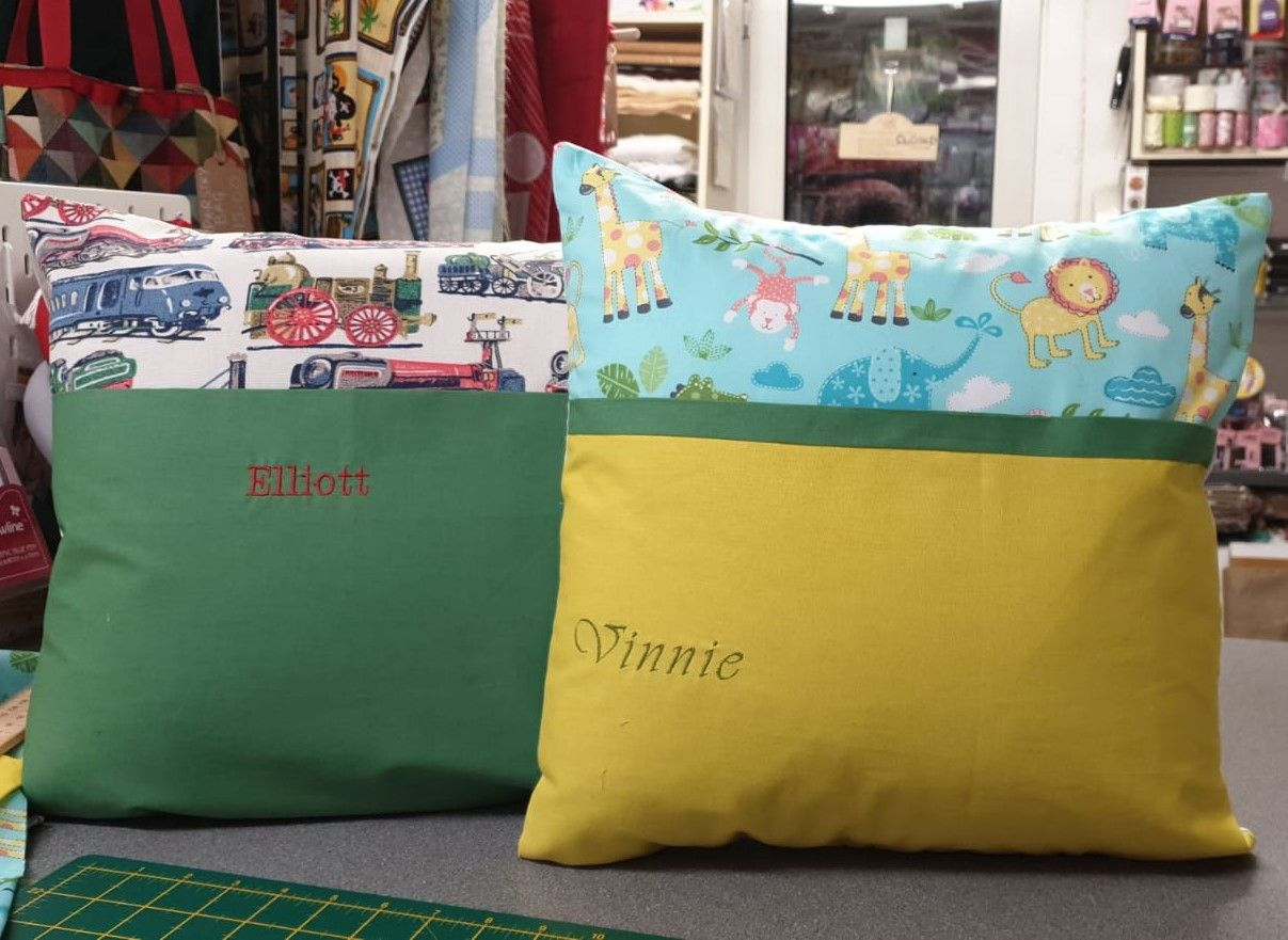 Debby's Patch book cushions