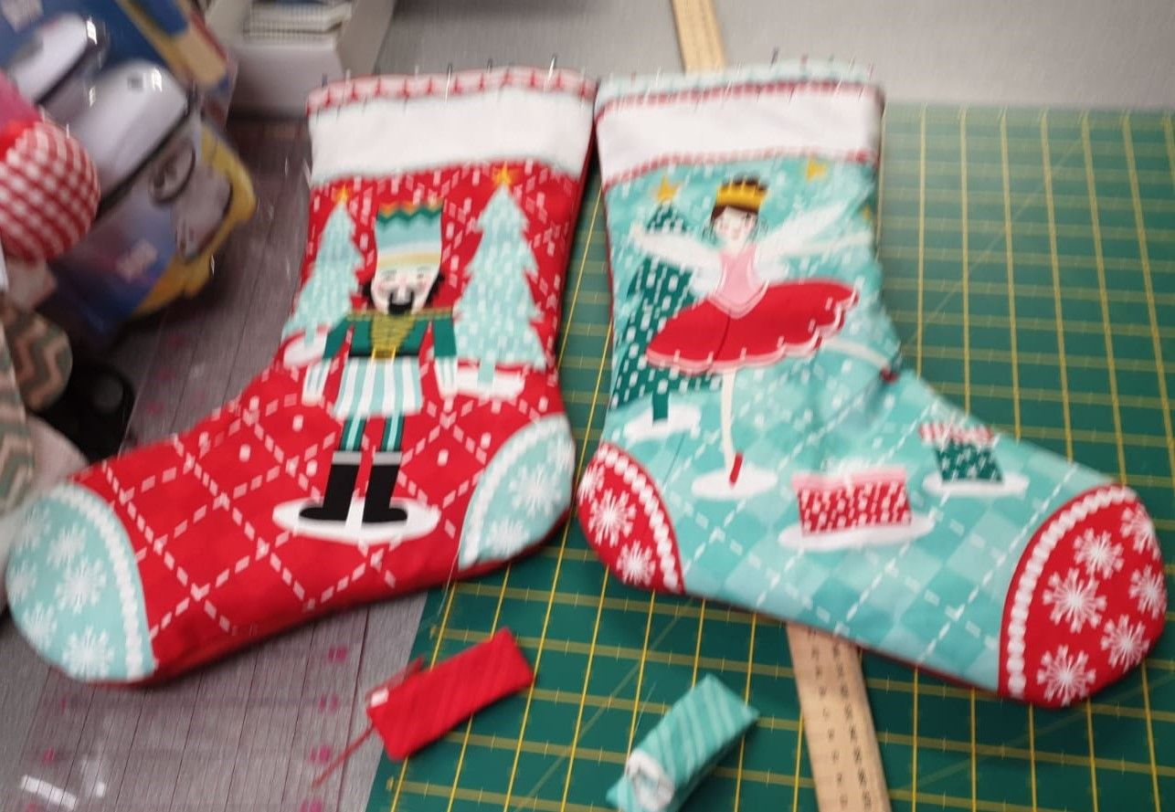 Debby's Patch xmas stockings