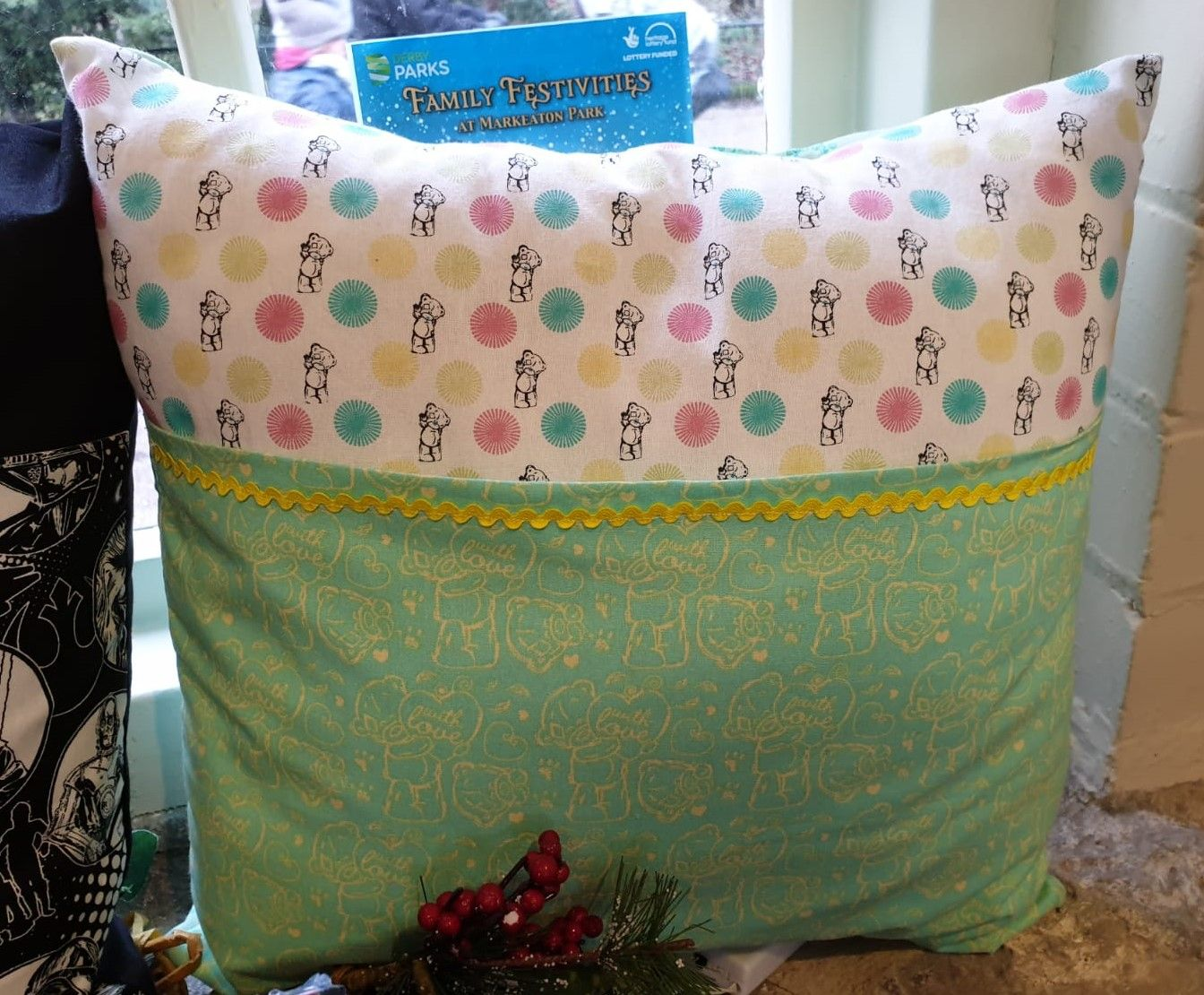 Debby's Patch girls book cushion