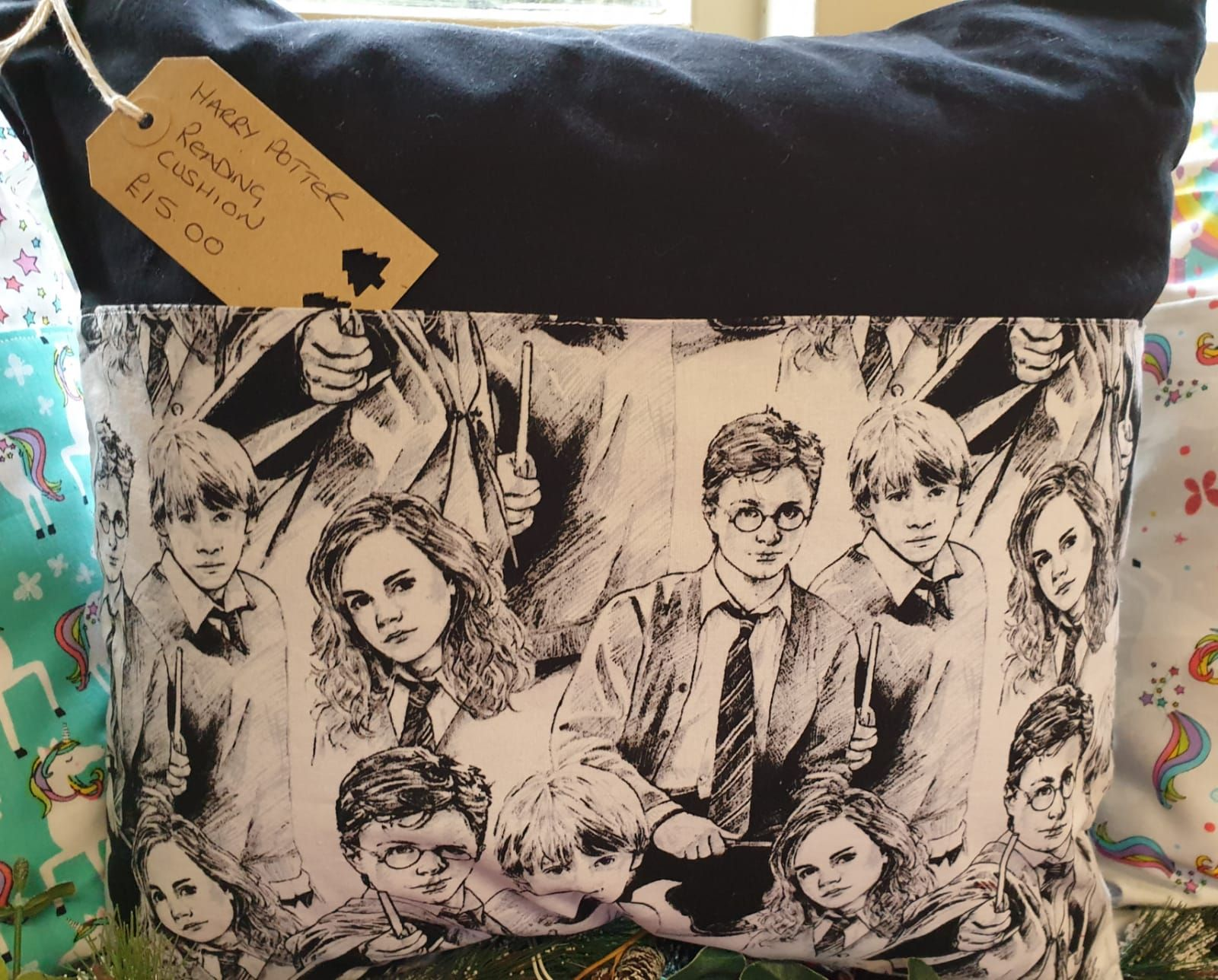 Debby's Patch Harry Potter book cushion