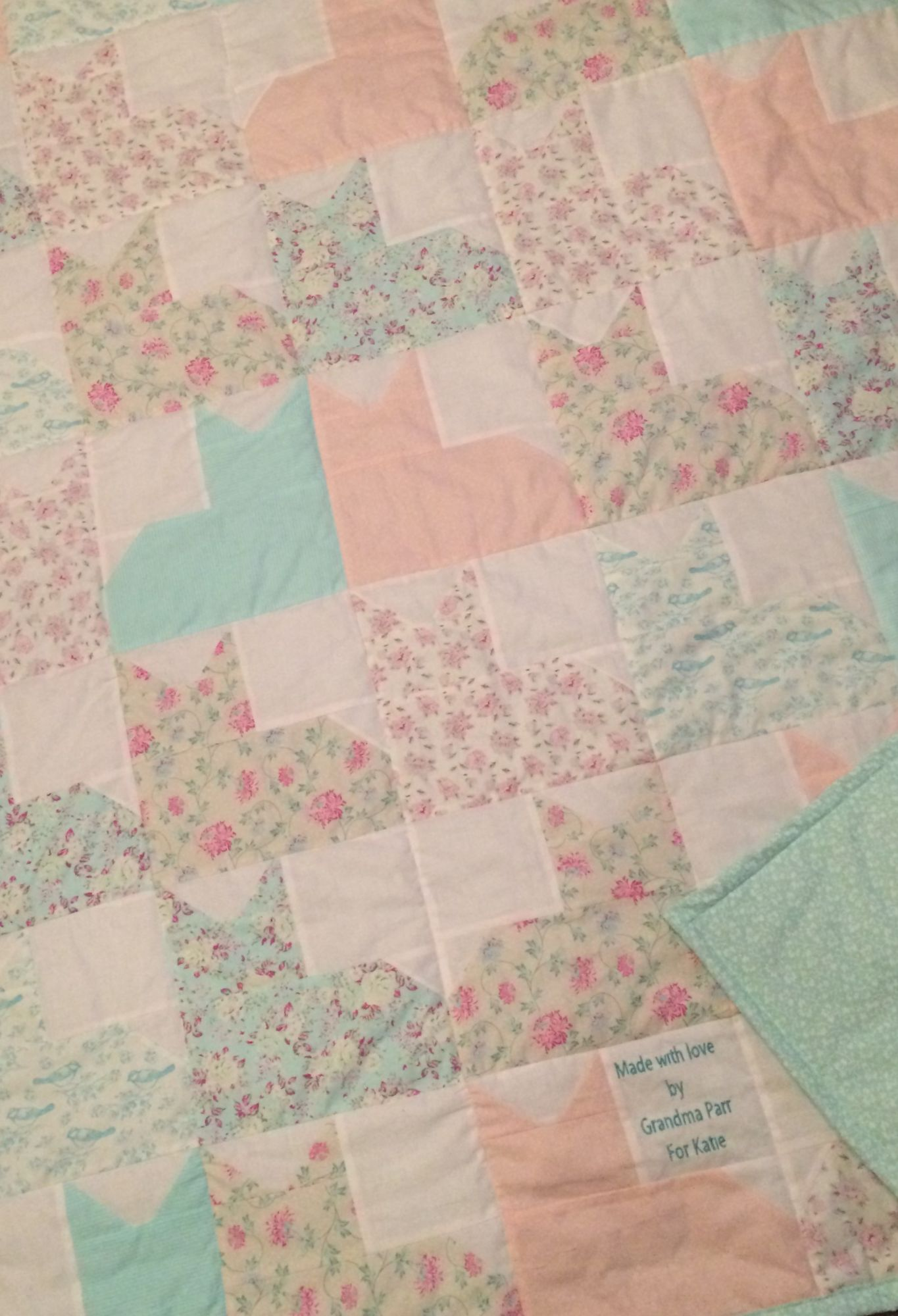 Debby's Patch cat quilt
