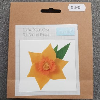 Felting kit make your own Felt daffodil brooch by Trimits