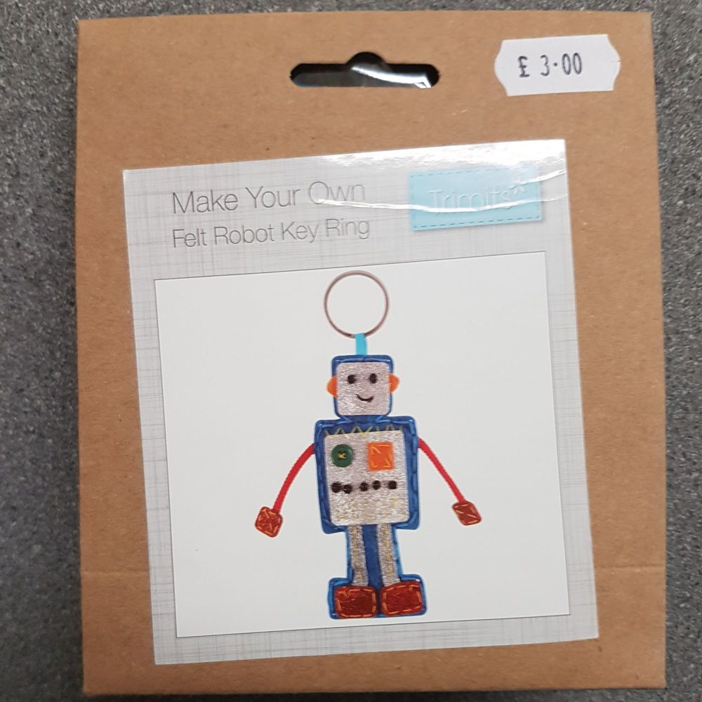 Felting kit make your own Felt robot by Trimits