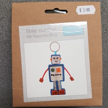 Felting kit make your own Felt robot key ring by Trimits