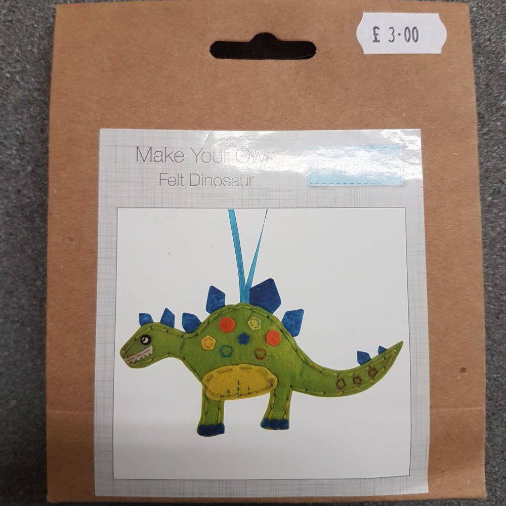 Felting kit make your own Felt dinosaur by Trimits
