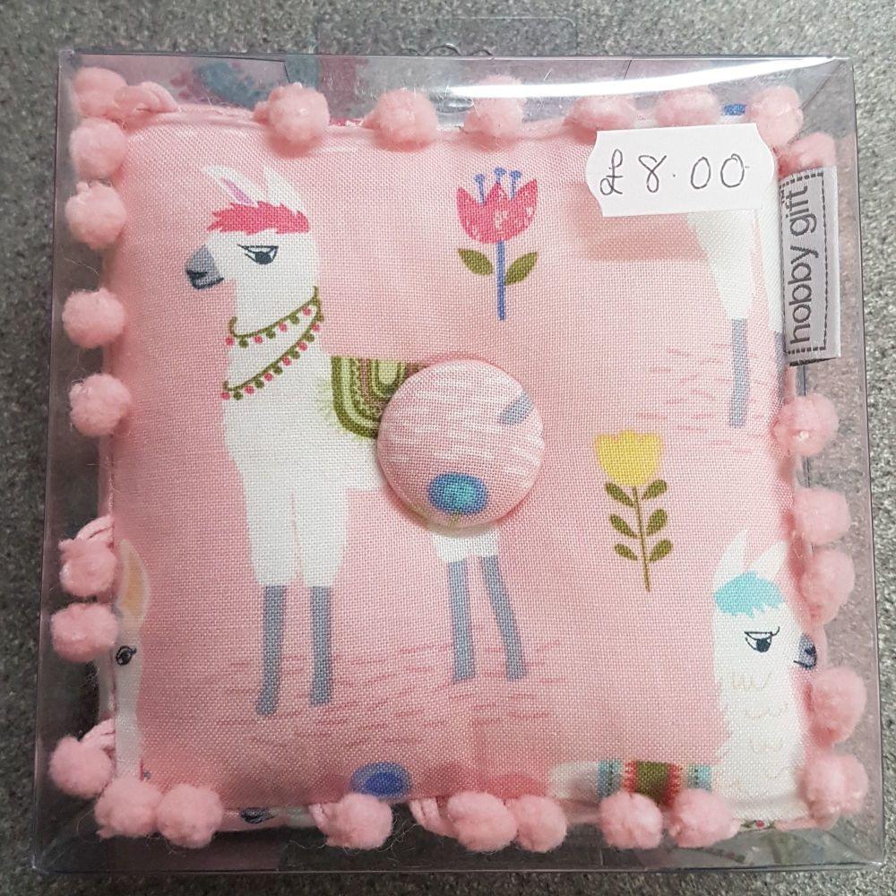 hobby gift llama pin cushion