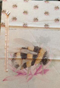pop art prints linen digital cushion cover panel kit bee
