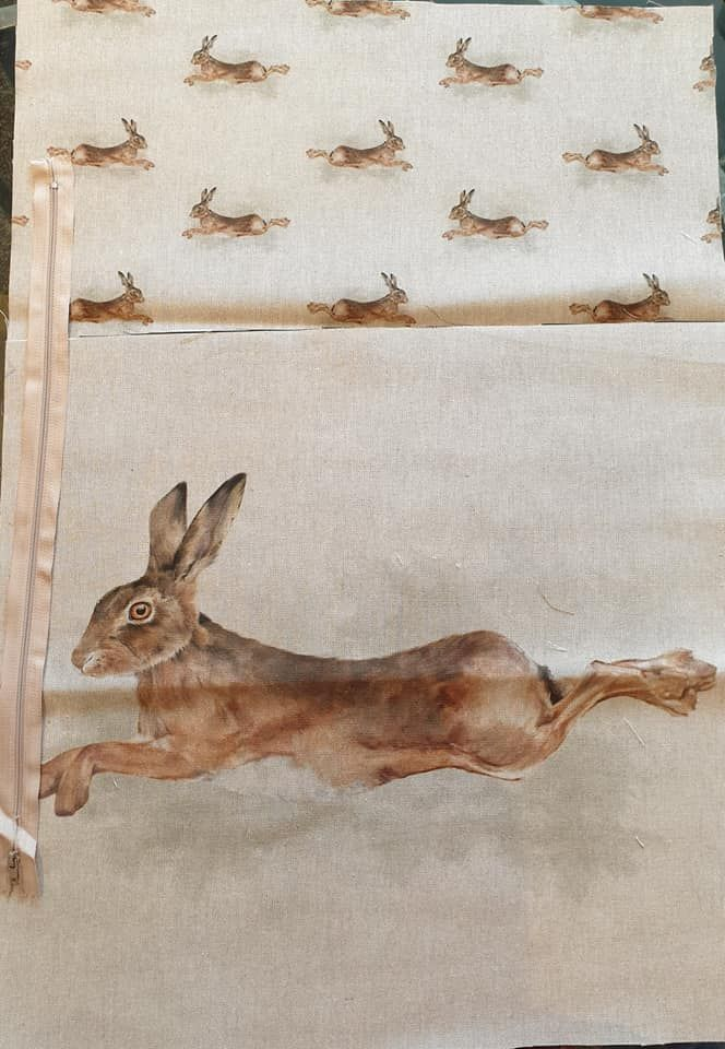 pop art prints linen digital  hare