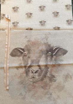 pop art prints linen digital cushion cover panel kit Sheep