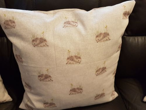 debbyspatch popart cushion back hedgehog