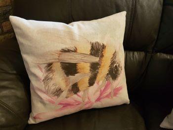 pop art prints linen digital flower bee cushion complete