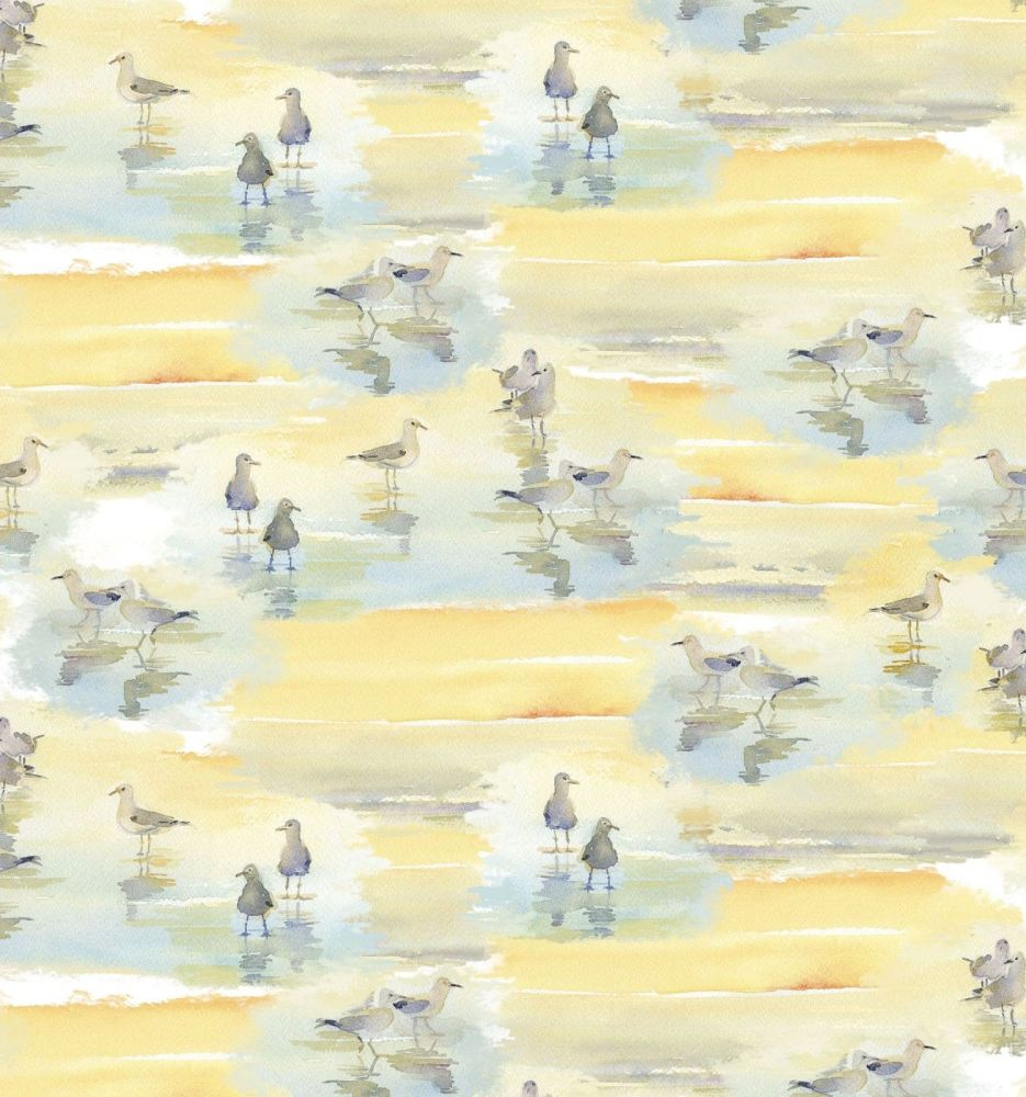 3 wishes at the shore digital fabric wadding birds 16053