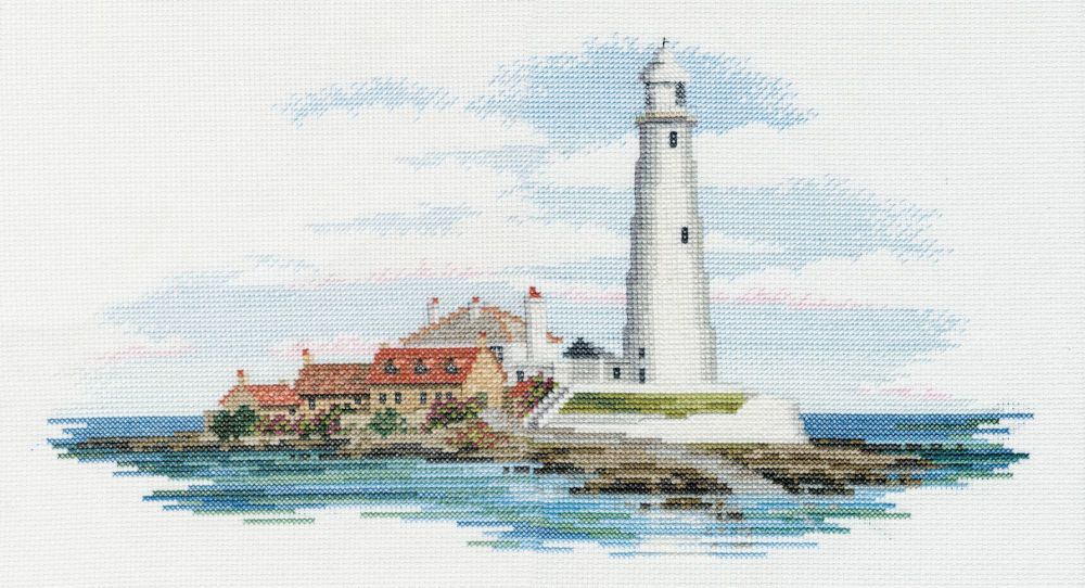 Derwentwater SEA01 embroidery coastal Britain - Morning light