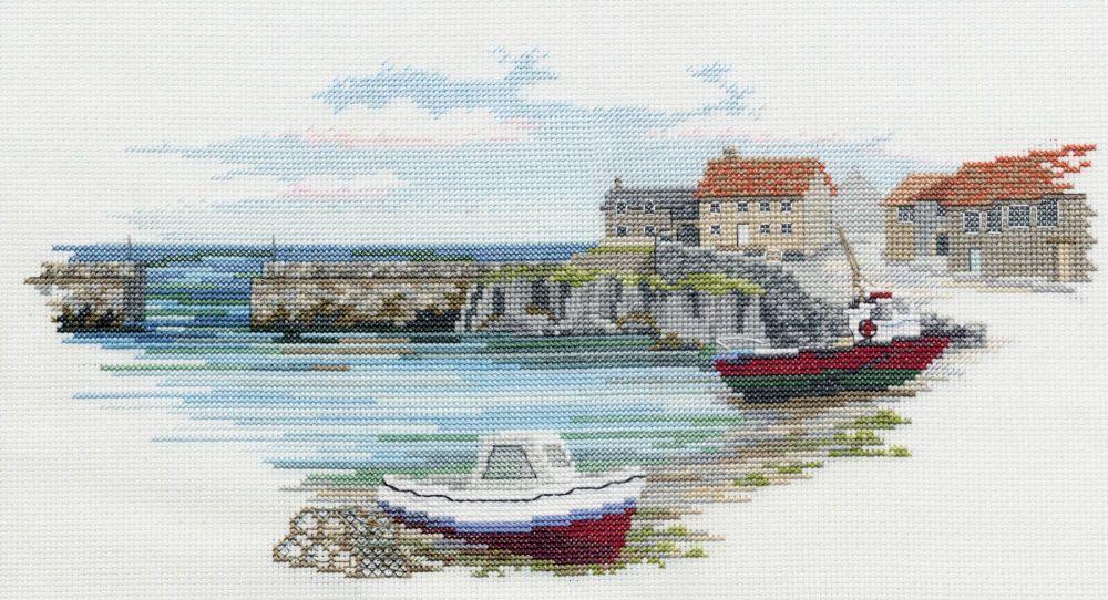 Derwentwater SEA02 embroidery coastal Britain - Fishermans haven