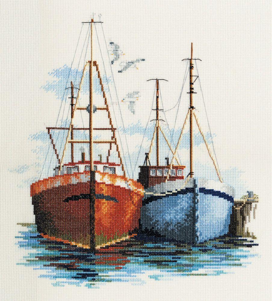 Derwentwater SEA03 embroidery coastal Britain - Fish quay