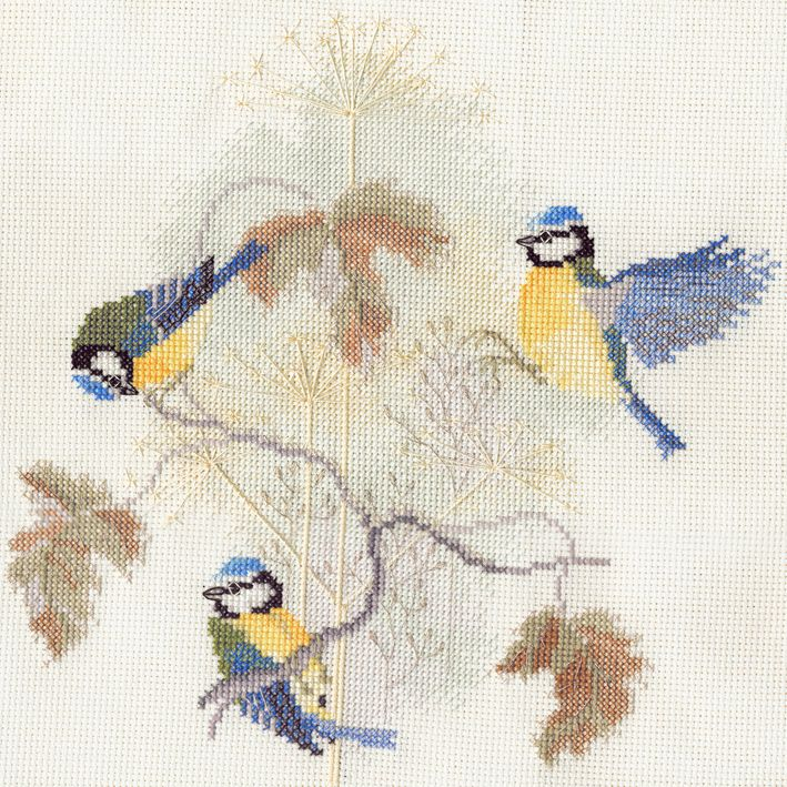 Derwent BB01 embroidery birds range blue tits small