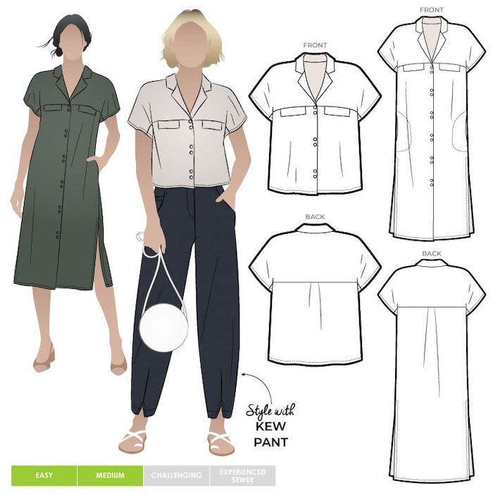 Style ARC mlbw046s Monty-shirt-and -dress 4-16