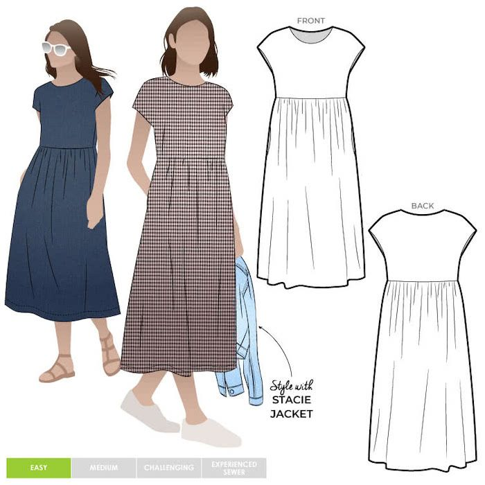 Style ARC MLDW062L Montana midi dress 18-30
