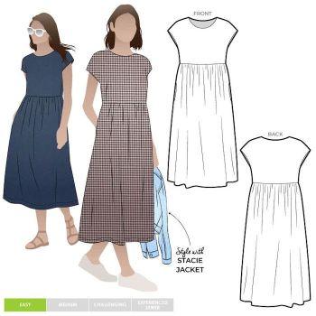 Style ARC MLDW062S Montana midi dress 4-16
