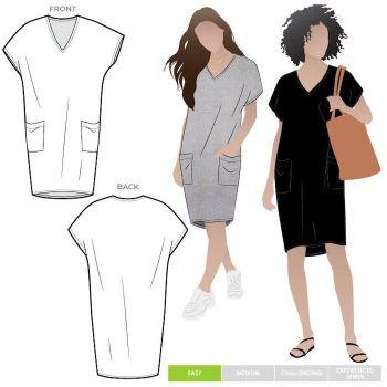 Style ARC mltdk030l Kitt knit dress 18-30